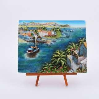 Картина настольная объемная на мольберте 18 х 22 см Катер в море оптом