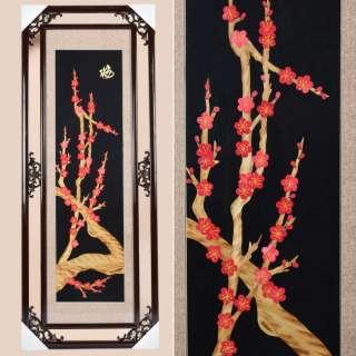 Картина из соломки в ажурной раме 47х117 см Веточки сакуры оптом