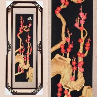 Картина из соломки в ажурной раме 47х117 см Сакура оптом