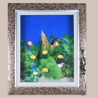 Картина аквариум с подсветкой 60х70 см водоросли зеленые оптом