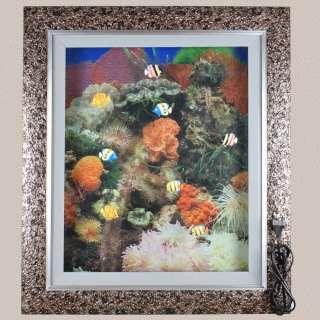 Картина аквариум с подсветкой 60х70 см кораллы оранжевые оптом