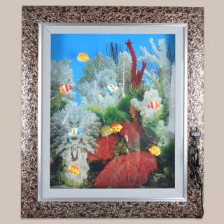 Картина аквариум с подсветкой 60х70 см кораллы белые оптом