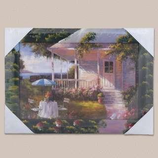 Картина Дом с верандой у моря, 34 х 47см оптом