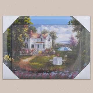 Картина 34 х 47см Стіл з парасолькою біля будинку оптом