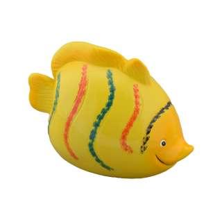 Копилка керамическая рыбка 10х15х8 см желтая оптом