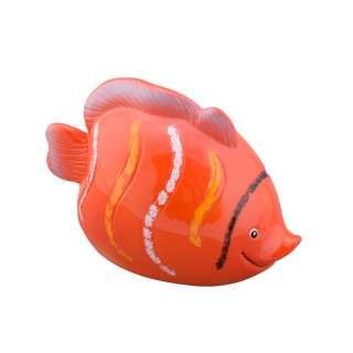 Копилка керамическая рыбка 10х15х8 см красная оптом