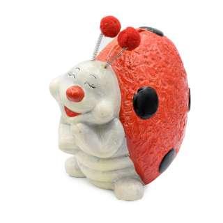 Копилка керамическая божья коровка счастливая 18х20х12 см оптом