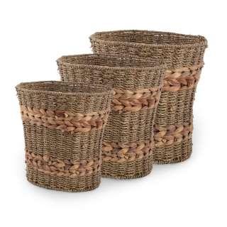 Набір кошиків плетені високі 25х23х18 см, 27х26х21см, 29х29х23 см оптом