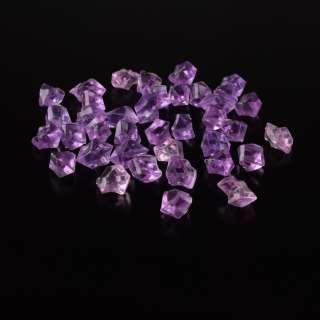 Кристаллы акрил 1,5x1,5x2,5 см сиренево-розовые 1шт оптом