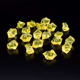 Кристаллы акрил 1,5x1,5x2,5 см желтые 1шт оптом