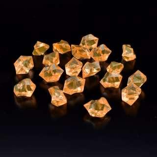 Кристаллы акрил 1,5x1,5x2,5 см оранжевые светлые упаковка 180 шт оптом