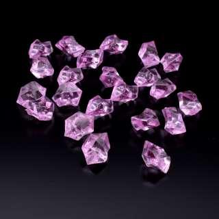 Кристаллы акрил 1,5x1,5x2,5 см сиреневые уп 180 шт оптом