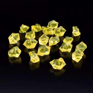 Кристаллы акрил 1,5x1,5x2,5 см желтые упаковка 180 шт оптом