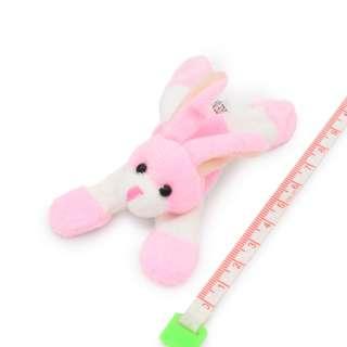 Магнит декоративный мягкая игрушка 9х5х3 см зайчик розовый оптом
