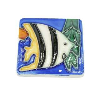 Магнит сувенирный керамика глазурь 6 х 6 см рыба скалярия оптом