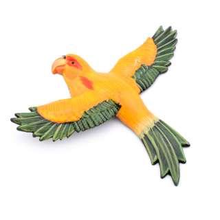 Магнит на холодильник Попугай 13х11см желтый с зелеными крыльями оптом