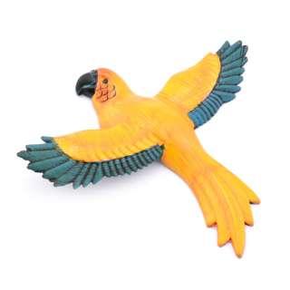 Магнит на холодильник Попугай 13х11см желтый с синими крыльями оптом