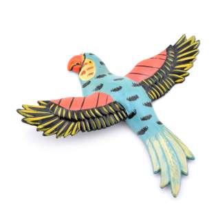 Магнит на холодильник Попугай 13х11см синий с черными крыльями оптом
