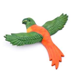 Магнит на холодильник Попугай 13х11см оранжевый с зелеными крыльями оптом