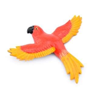 Магнит на холодильник Попугай 13х11см красный с желтыми крыльями 13х11см оптом