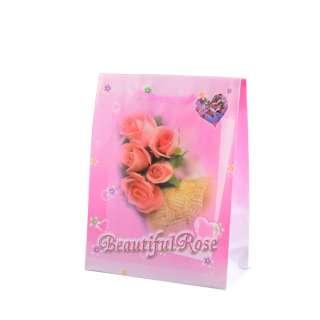 Пакет подарунковий 16х12х6 см з трояндами Beautiful Rose рожевий оптом