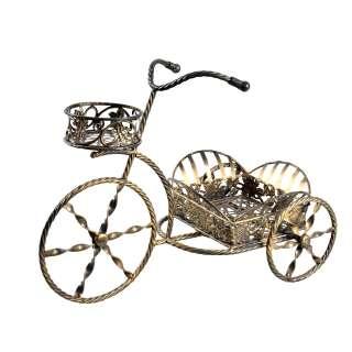 Подставка для цветов декоративная металлическая велосипед 3 колеса оптом