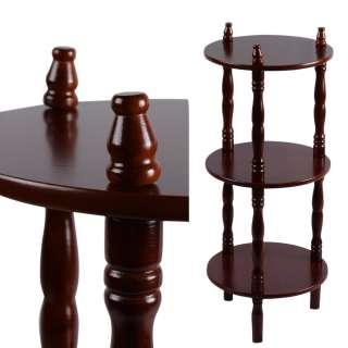 Стеллаж круглый 3 полки деревянный 70х29х29 см коричневый оптом