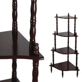 Стелаж кутовий 4 полиці дерев'яний 107х57х39 см коричневий темний оптом