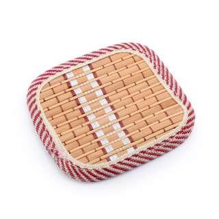Підставка під чашки бежева бамбукова соломка квадратна 10х10 см оптом
