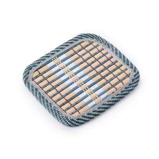 Підставка під чашки бірюзова бамбукова соломка квадратна 10х10 см оптом