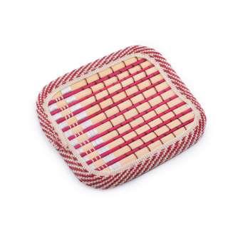 Підставка під чашки бордова бамбукова соломка квадратна 10х10 см оптом