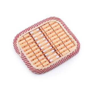 Підставка під чашки помаранчева бамбукова соломка квадратна 10х10 см оптом