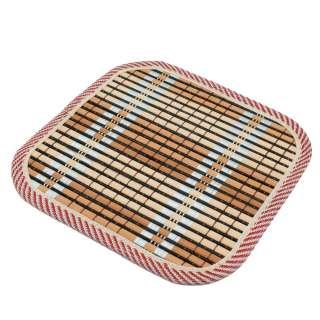 Подставка под горячее бамбуковая соломка квадратная 17х17 см бежево-черная оптом