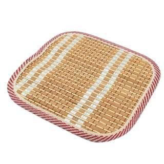 Подставка под горячее бамбуковая соломка квадратная 17х17 см бежевая оптом