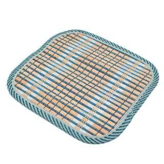 Подставка под горячее бамбуковая соломка квадратная 17х17 см бежево-синяя оптом