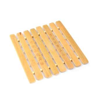 Подставка под горячее бамбуковая решетка 8 планок 17х18 см оптом