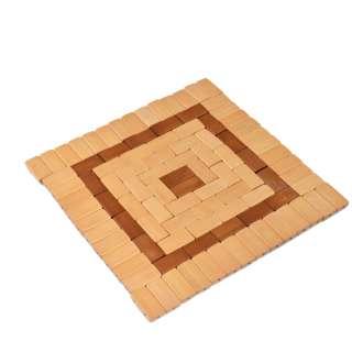 Подставка под горячее бамбуковая квадратная 20x20 см бежево-коричневая оптом