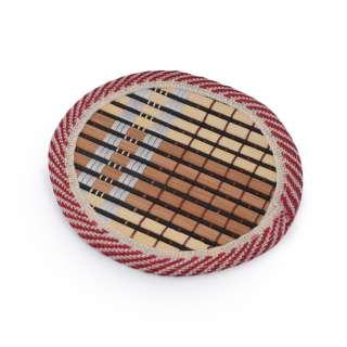 Підставка під чашки бамбукова соломка кругла коричнева 10 см оптом