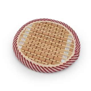 Підставка під чашки бамбукова соломка кругла бежева 10 см оптом
