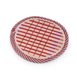 Підставка під чашки бамбукова соломка кругла червона 10 см оптом