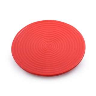 Блюдо керамическое круглое рельефное 27х27х2 см красное оптом