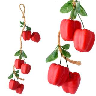 Подвеска связка декоративная 53 см перец сладкий пенопласт 6 см оптом