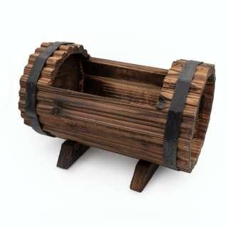 Бочка деревянная декоративная с прорезью 16х23х16см вн. 13х17х11см оптом