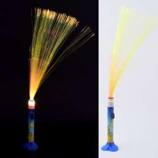 Ночник светильник на батарейках Фейерверк 40 см сине-оранжевый со львом оптом