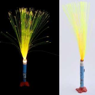 Ночник светильник на батарейках Фейерверк 40 см голубой с мишкой оптом