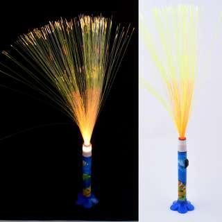 Ночник светильник на батарейках Фейерверк 40 см синий с рыбками оптом