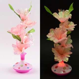 Ночник светильник на батарейках Букет в вазе, 40см, коралловый оптом