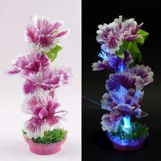 Ночник светильник на батарейках 25 см Цветок сиреневый оптом