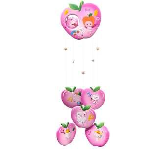 Музыка ветра подвеска керамическая яблоко 60 см розовая (0402) оптом