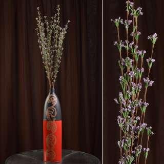 Искусственная веточка 100 см полевых цветов сиреневая оптом